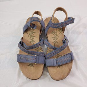 Easy Spirit Leather Cushioned Walking Sandals 7.5M